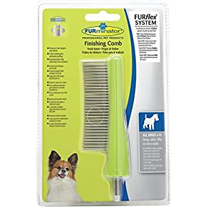 FURminator Dog Grooming Comb Head FURflex, Finishing Comb to Remove Tangles and Debris for All Dogs 10