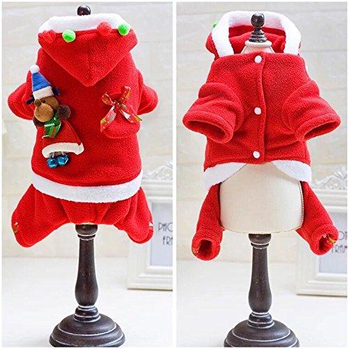 Meng Pet Winter Neue Hund Kostüme Weihnachten/ Baumwolle Warme Vier Beine Kleidung/8 in Größe (8in Bein)