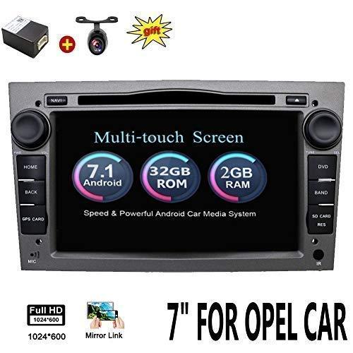 """2 G 32 G Android 7.1 4-Core 7\"""" GPS coche reproductor de DVD para Opel Astra Vectra Zafira Antara Corsa Radio Navegación estéreo Audio vídeo color gris con cámara & canbus"""