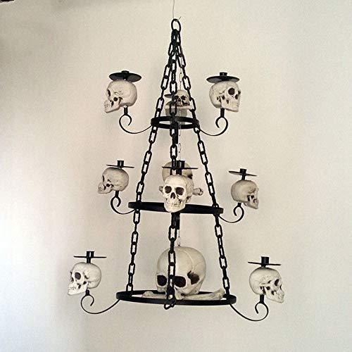 YANGBAO Kerzenhalter Lampe Skeleton Kerzenhalter Für Halloween Spukhaus Dekoration Requisiten Skelett Stehlampe Requisiten