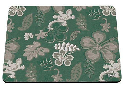 hippowarehouse Sommer Surf Print bedruckt Mauspad Zubehör Schwarz Gummi Boden 240mm x 190mm x 60mm, grün, (Sydney Party Supplies)