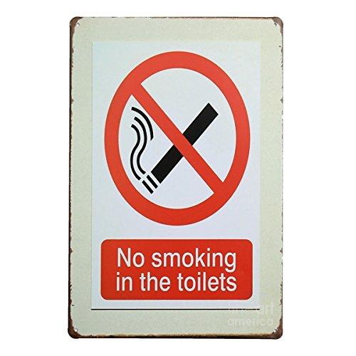 Bluelover Non fumatori Tin segno Vintage metallo