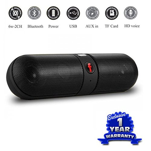 Captcha Portable Stereo Bluetooth Pill Speakers - Intex Cloud Devices Compatible