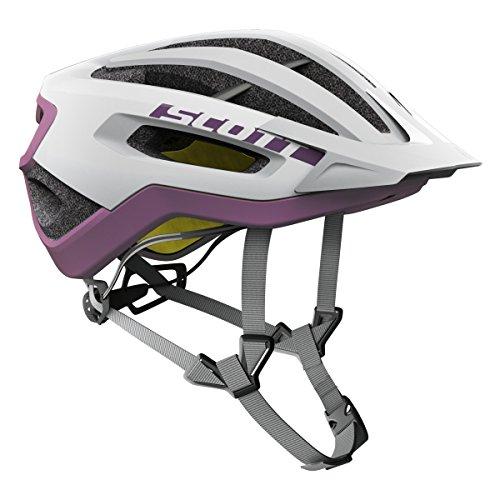 Scott Fuga Plus XC MTB Fahrrad Helm weiß/lila 2017: Größe: M (55-59cm)