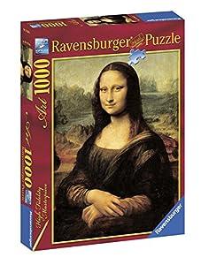 Ravensburger-15296 4 Obras de Arte Puzzle 1000 Piezas La Gioconda, (15296 4)