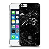 Head Case Designs Offizielle NFL Marmor 2017/18 Carolina Panthers Ruckseite Hülle für Apple iPhone 5 / 5s / SE