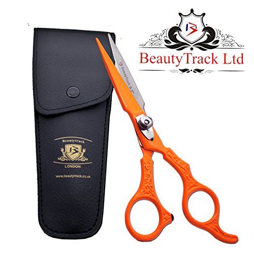 BeautyTrack Neue Haar Schneiden Barber Salon Schere Haar Scheren - Salon Spa - Haar Schere - 15,2 cm Profi Friseur Schere - Tasche