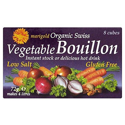 Cubes Souci Organiques Suisse Faible Légumes De Sel De Bouillon (De 8X9G)