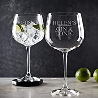 Personalised Gin Glass/Gin Related Gifts/Christmas Gifts for her/Personalised Birthday Gifts For Women/Best Friend Gifts For Women