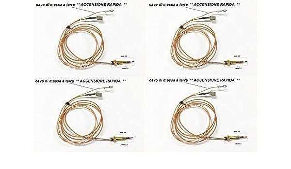 4 TERMOCOPPIE TERMOCOPPIA ACCENSIONE RAPIDA MM 33 LOFRA NARDI FRANKE H 4775