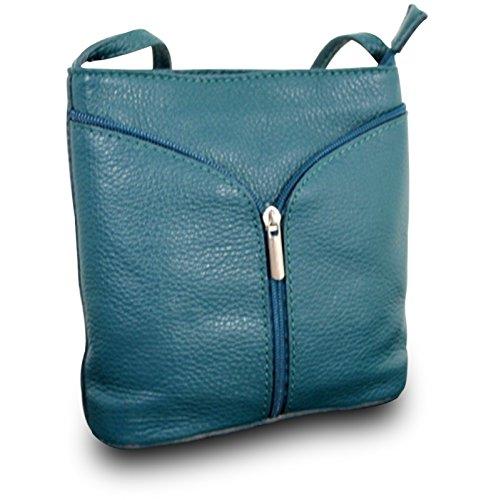 Fabriqué en Italie Luxe Sac bandoulière pour femme Clutch Cross Body Bag Sac en cuir véritable Bleu