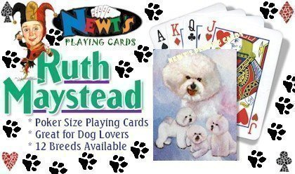 Bichon Frise Dog Playing Cards by Ruth Maystead -