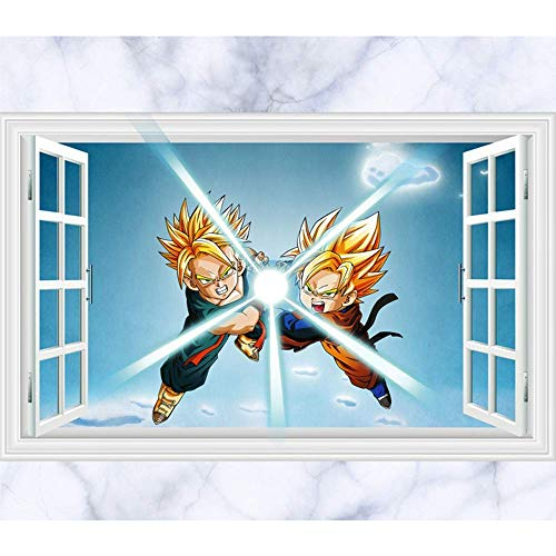 (JUNMAONO Dragon Ball Z Wandaufkleber/Abnehmbare Wandbild Aufkleber/Wandgemälde/Wand Poster/Wandbild Aufkleber/Wandbilder/Wandtattoo/Pinupbild/Beschriftung/Pad einfügen/Tapete/Tapezieren/Tapeten/Wand Zeitung/Wandmalerei Haftnotiz/Fühlen Sie sich frei zu kleben/Instant Aufkleber/3D-Stereo-Wandaufkleber)
