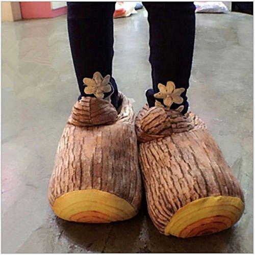 Unisex Cotone Caldo Interno Pantofole legno Forma scarpe