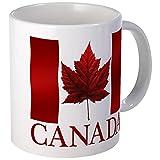 CafePress Kanada Flagge Souvenirs Canadian Maple Leaf Geschenke Mu Tasse, keramik, Weiß, Größe S