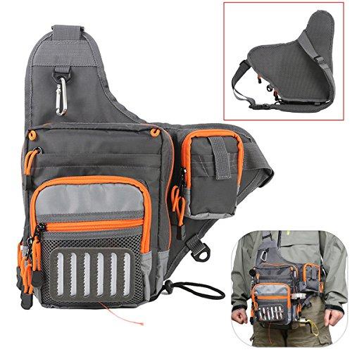 HANO Maxcatch Polyester Fishing Sling Bag Multifunktionale Fliegen-Fischen-Tasche Hüfttasche Werkzeugtasche - Polyester Sling-tasche