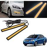 #8: Vheelocityin 17Cm Red Drl Daytime Running Light For Car - Set Of 2 For Chevrolet Aveo