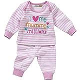 Lullaby Baby Girls I Love My Mummy Daddy Striped Spot Pyjamas Pyjamas