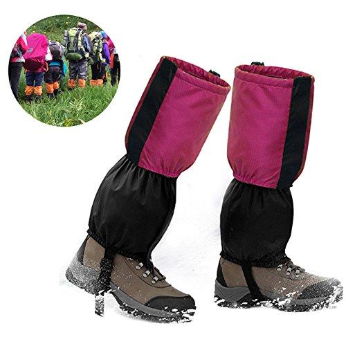 Lemonda Outdoor wasserdichte Gamaschen Gaiter für Wandern, Klettern und Schneewandern wandernde gehende kletternde Jagd-Schnee (Rosa) (Schwarzwald Kostüm)