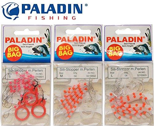 54 Paladin Silikon Stopper Perlen Schnurstopper Spirolino Pose, Forellenangeln, Angeln auf Forelle, Größe:M