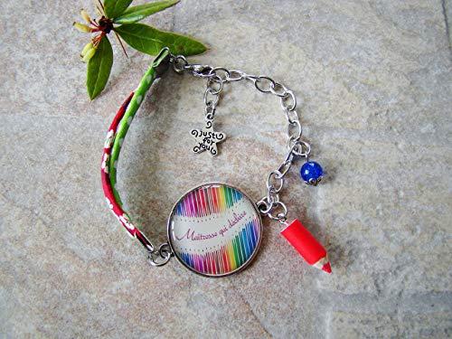 cadeau ma tresse d 39 cole bracelet femme crayon cabochon bijou fait main bijou fantaisie. Black Bedroom Furniture Sets. Home Design Ideas