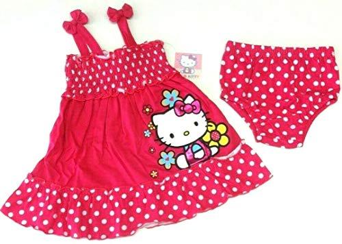 Hello Kitty Sommer Baby Outfit Größe 80 Kleid + Höschen USA Size 18 Month Mädchen Trägerkleid