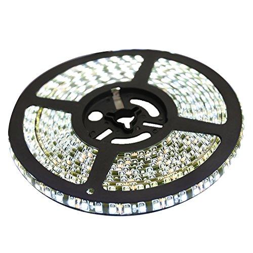 XKTTSUEERCRR 5M 600 LED Negro-PCB IP65 Impermeable Tira de LED 12V 3528SMD Blanco Frío