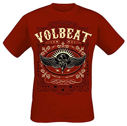 Volbeat Western Wings Camiseta Rojo M