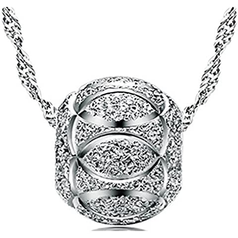 SaySure - S925 Silver Luck Bead Pendants 925 Sterling Silver Pendant