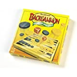 Traditional Backgammon with Wooden Board & Pieces