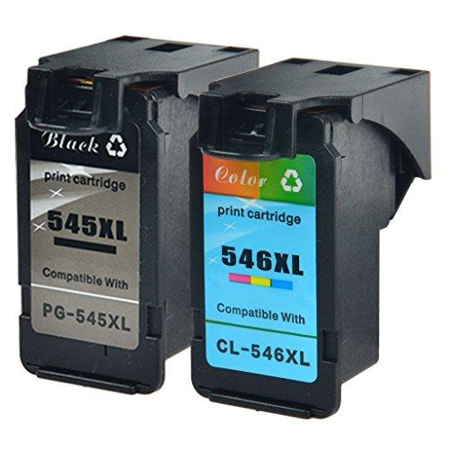 nineleaf 2Pack–PG-545X L y CL-546X L remanufacturados para Canon 545x l 546X L PG-545XL CL-546XL (1negro + 1Color) cartuchos de tinta compatibles para PIXMA IP2800MG2400IP2850impresora