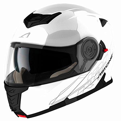 Astone rt1200m-wh casco modulable rt1200, color blanco