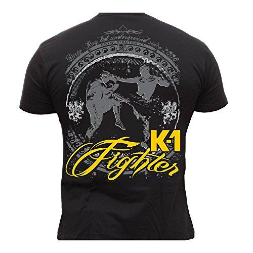 Mma-fighter T-shirt (Dirty Ray Kampfsport MMA K1 Fighter Herren Kurzarm T-Shirt K73 (L))