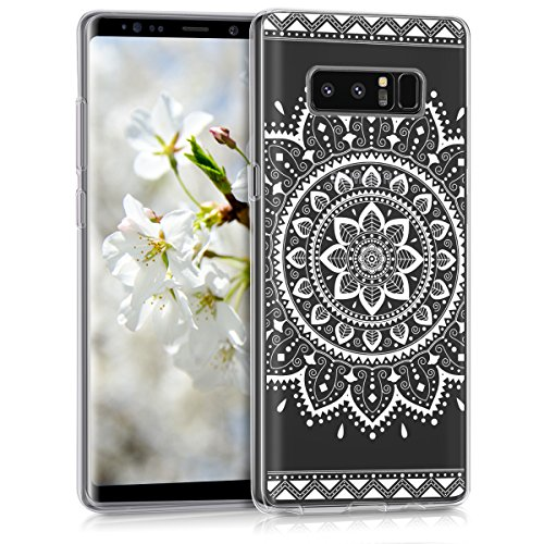 kwmobile Samsung Galaxy Note 8 DUOS Hülle - Handyhülle für Samsung Galaxy Note 8 DUOS - Handy Case in Weiß Transparent