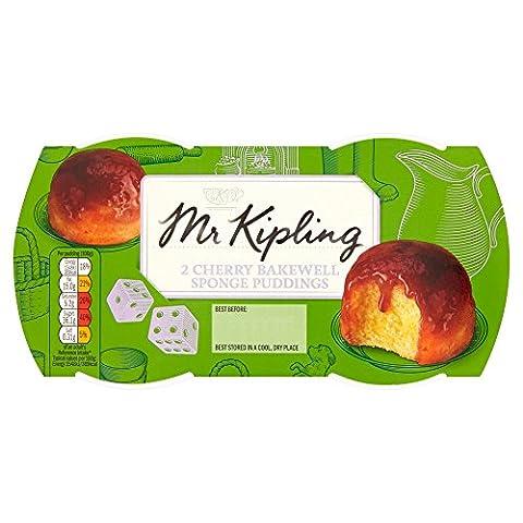 Mr Kipling 2 Cherry Bakewell Sponge Puddings 2x95g (190g)