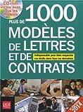 Plus de 1000 modèles de lettres et de contrats (1Cédérom)...