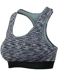 Comfort Bra Mujeres Niñas Sujetador de Yoga de una Pieza sin Anillo de Acero Sleep Running Healthy Slimming para Mujeres Sujetador Sleep In Yoga (Color : Negro, tamaño : XL)