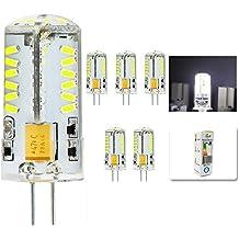mengjay® 5x CREE caliente venta 57LEDs SMD3014Bombilla Lámpara G4maíz blanco frío AC DC12V 4W SMD 3014LED luz bombilla lámparas 360grados ángulo de haz