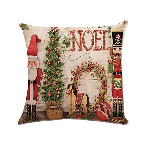 Kostüm D Bügel - Xuthuly Weihnachten Xmas Santa Claus Kissenbezug Kissenbezug Square Car Home Decor