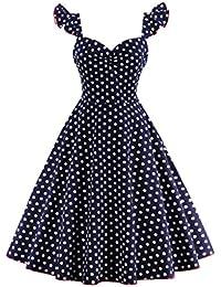 Valin M1373 Damen Rockabilly 50er Vintage Retro Kleid Partykleider Cocktailkleider