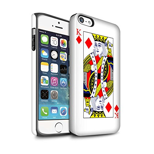 Coque Brillant Robuste Antichoc de STUFF4 / Coque pour Apple iPhone 4/4S / Joker Design / Cartes à Jouer Collection Dames de Carreau