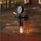 ZHAS Wandleuchten Wandleuchte Lampe Modern Vintage industrielle Retro Kreative rustikalen Eisen Wandleuchte mit E27 Sockel für Wohnzimmer Schlafzimmer Bar Dekoration (Glühlampen nicht enthalten)