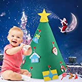 Beetest Diy Christmas Tree for Children, 3D DIY Felt Christmas Tree with 18pcs Toddler Friendly Christmas Tree Hanging Ornaments for Kids Xmas Gifts Christmas Home Decorations Bild 5