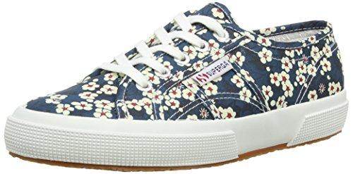 Superga 2750 Liberty, Chaussons Sneaker Adulte Mixte Bleu (914 Flower)