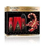 Scorpio Rouge - Coffret 3 produits  pour homme - Eau de toilette flacon 75ml , Gel Douche 250ml &  Déodorant atomiseur 150ml