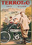 Pixiluv 2019Calendrier Mural [12Pages 20,3x 27,9cm] Terrot Moto Vélo Vintage ADS Poster