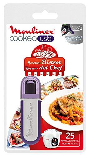 Moulinex Clé USB de 25 Recettes Bistrot Tradition XA600411 Accessoire Cookeo Officiel Compatible...