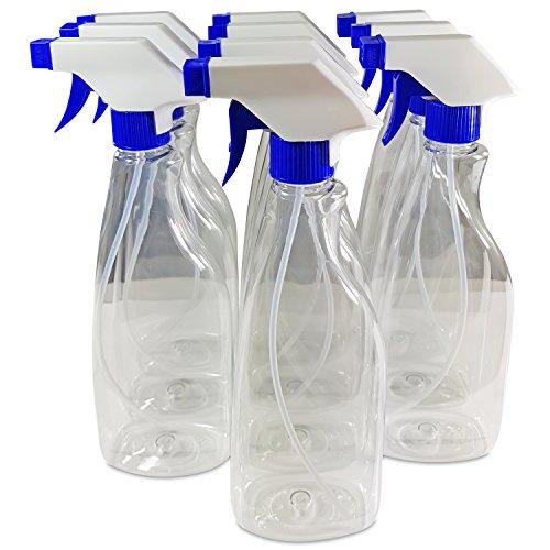 Etiketten Pflanze Leer (10x Sprühflaschen transparent (leer) 500ml inkl. Etiketten - extra langer Sprühkopf Schlauch - verstellbare Kunststoffdüse – schlankes Design)