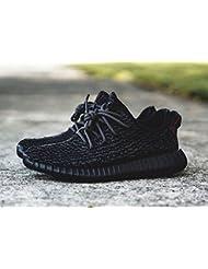 diansen® running Flyknit Boost inspirado Zapatillas Fitness Gimnasio Zapatos de Deporte (Talla 6–11), hombre mujer Infantil