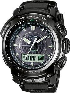 Reloj de caballero CASIO Pro Trek PRW-5100-1ER de cuarzo, correa de resina color negro de Casio